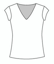 Cap Sleeve Vee Neck (102C)