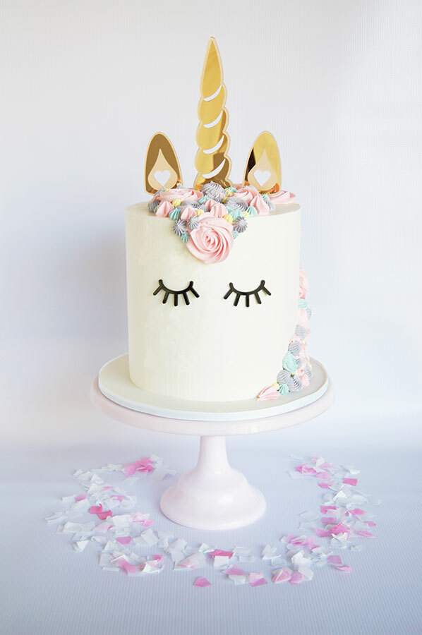 Gorgeous unicorn cake topper made in Australia