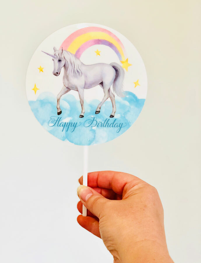 Rainbow Unicorn cake topper Australia