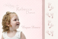 Footprints Naming, Christening & Baptism Invitations