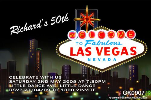 Las Vegas Birthday Party Invitations