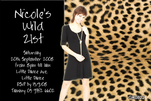 Leopard Print Birthday Party Invitations
