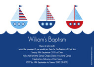 Nautical Sailboard Baptism Christening & Naming Invitations