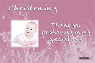Pink Fields Christening & Baptism Invitations