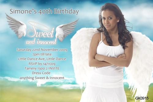 Angelic Birthday Party Invitations