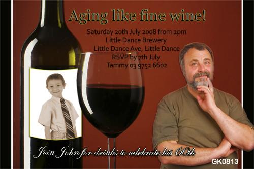 Wine Lover Birthday Party Invitations