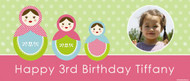 Custom childs party poster for sale online - Matryoshka or Babushka theme