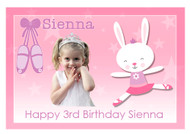 Ballet Bunny Personalised Birthday Cake Icing Sheet
