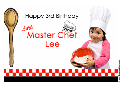 Masterchef Cooking Personalised Birthday Cake Icing Sheet