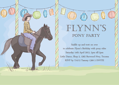 Buy Boys Pony Party Invitations Online