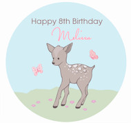 Baby Deer Personalised Birthday Cake Icing