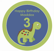 Dinosaur Birthday Cake Personalised Icing sheet