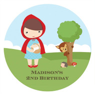 Personalised Little Red Riding Hood Icing Sheet  - Red Riding Hood Edible Image for Kids Birthday Cake - Cupcake and Cookie Edible Images - Printed in Melbourne Australia