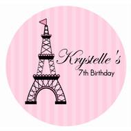 Pink Paris Personalised Cake Icing