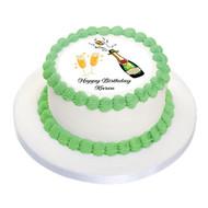 Edible image celebration cake