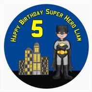 Batman Themed Birthday Cake Icing