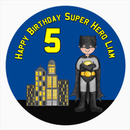 Personalised Batman Themed Cake Icing - Batman Inspired Edible Image for Kids Birthday Cake - Cupcake and Cookie Edible Images - Printed in Melbourne Australia