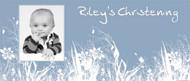Christening & Baptism Banner - Blue Field