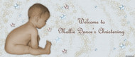 Christening & Baptism Banner - Little Boy Stars