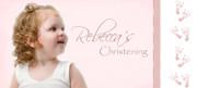 Christening & Baptism Banner - Pink Footprints