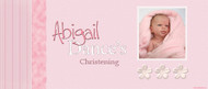 Christening & Baptism Banner - Pink Girls