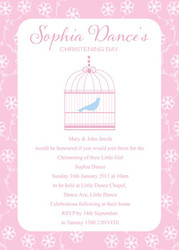 Birdcage Christening & Baptism Invitations