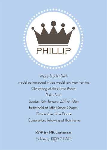 christening invitations little prince theme photo christening