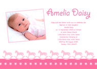 Rocking Horse Baptism Naming and Christening Invitations