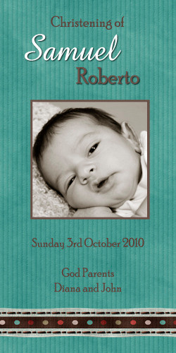 Green Baptism & Christening Ceremony Candles