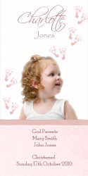 Pink Footprints Baptism & Christening Ceremony Candles