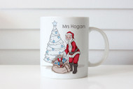 Personalised Santa Christmas Mugs