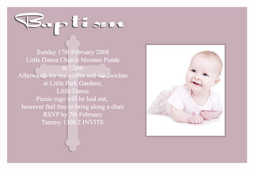 Pink Orthodox Baptism Naming and Christening Invitations. Australian online shop