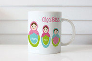 Babushka Personalised Custom Name Mug