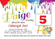 Painting Art Birthday Party Invitation