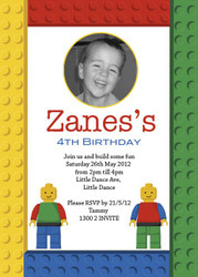 Lego inspired Birthday Party Invitations