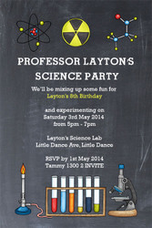 Scient Party Birthday Party Invitations