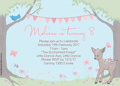 Enchanted Forest Birthday Party Invitations