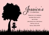 Silhouette Swing Birthday Party Invitation