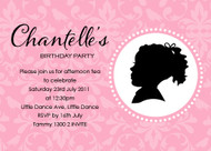 Girls Cameo Birthday Party Invitation