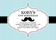 Little Moustache Man Invitation