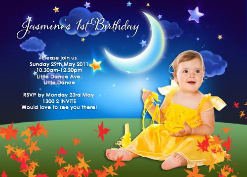 Night Garden Party Birthday Invitations