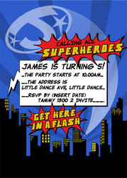 Invitations - Superhero Boy