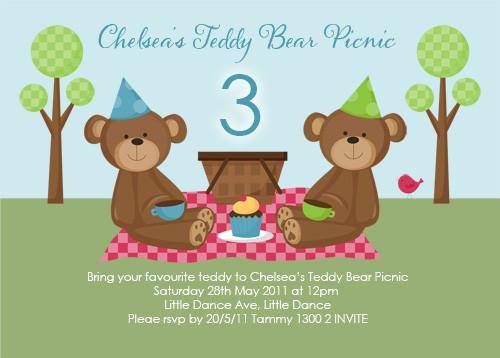 teddy bear picnic party invitations teddy bear picnic birthday