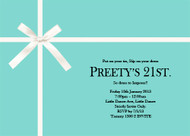 Tiffany Blue Birthday Party Invitation