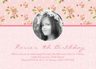 Vintage Shabby Chic Birthday Party Invitation
