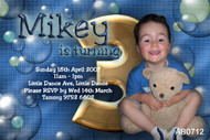 Boys Bubble Birthday Party Invitation