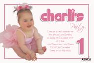 Girls Chic Pink Birthday Party Invitation
