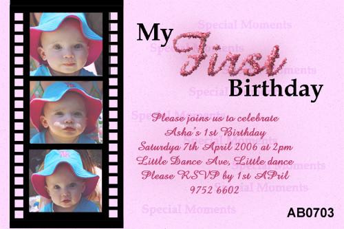 Movie Slide Birthday Party Invitation