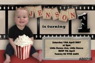 hollywood Birthday Party Invitation