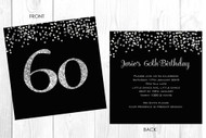 Personalised 60th birthday party invitation
